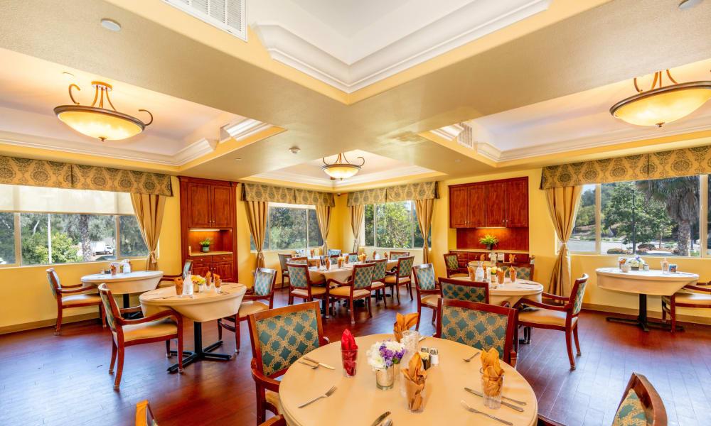 Open dining hall at Vista Gardens in Vista, California