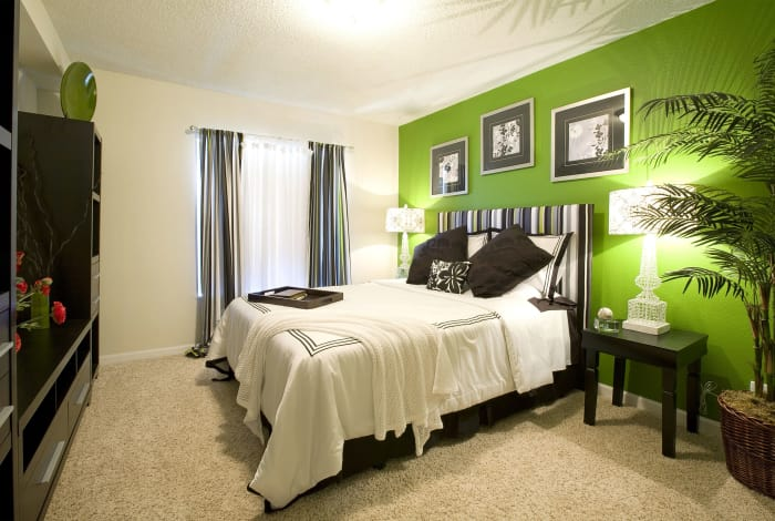 Model bedroom at Broadmoor Ridge Apartment Homes