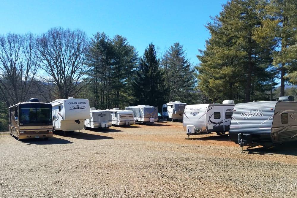 RV, Boat & Auto Storage at Monster Self Storage in Asheville, North Carolina