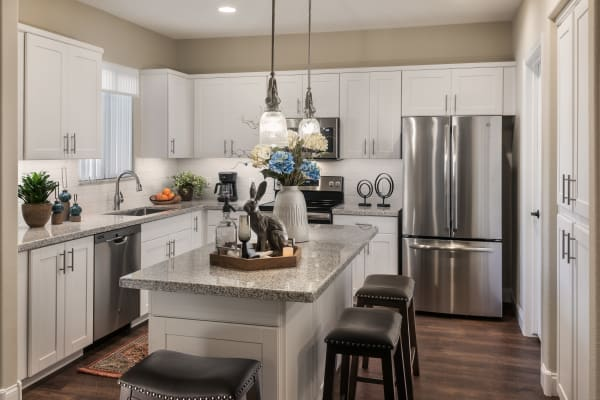 Sleek, modern kitchen at San Artes in Scottsdale, Arizona