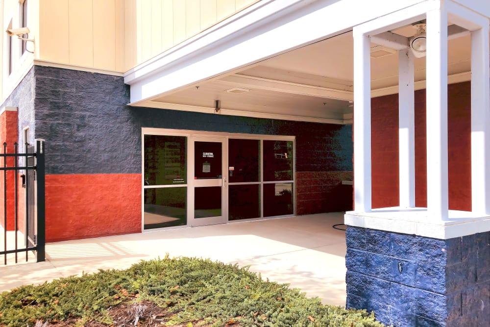 Front door at Climatrol Self Storage in Williamsburg, Virginia