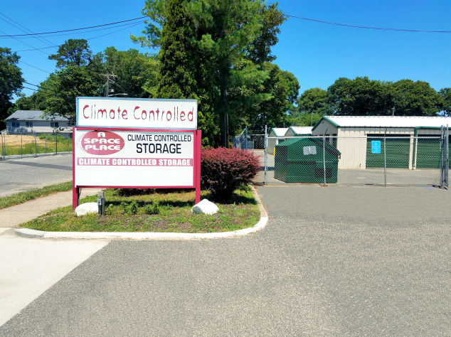 Sign in front of Prime Storage in Centereach, New York