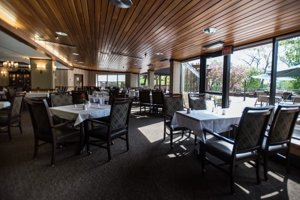 Towers dining room at The Glenn Hopkins