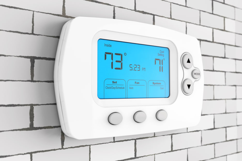 A thermostat for climate-controlled storage at Stor 4 Dayz in Sanford, Florida