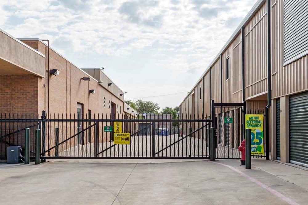 Storage units entrance at Metro Self Storage in Amarillo, Texas