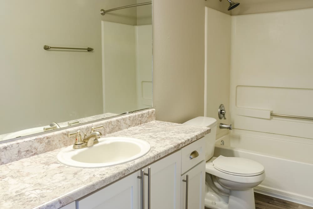Bathrooms at Madison Park Apartments in Vancouver, Washington