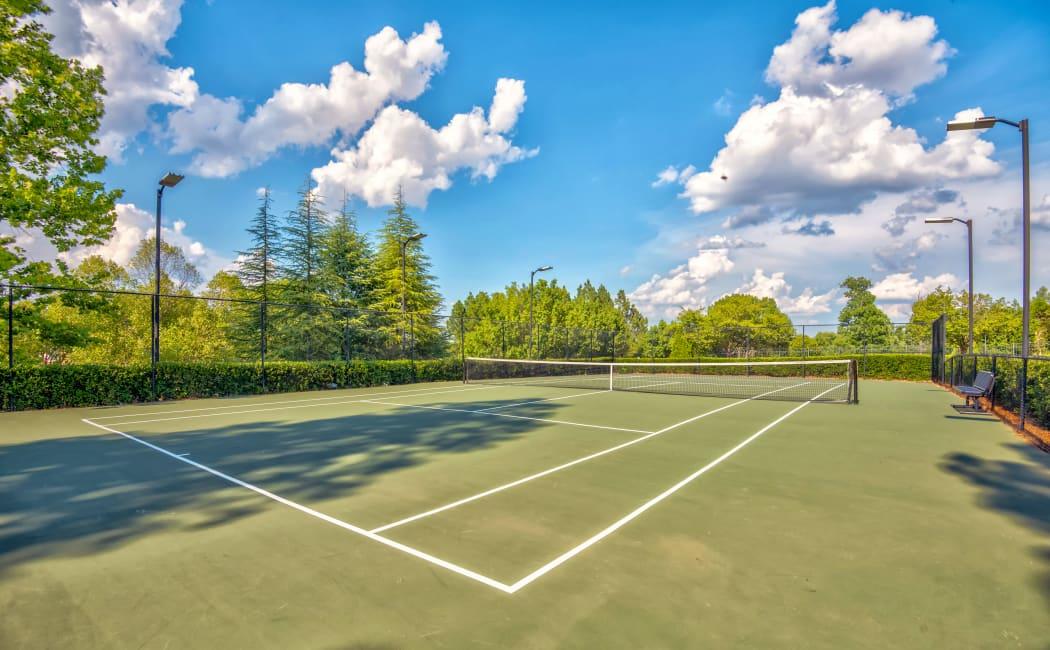 Tennis court at Edinborough at the Park in Durham, North Carolina