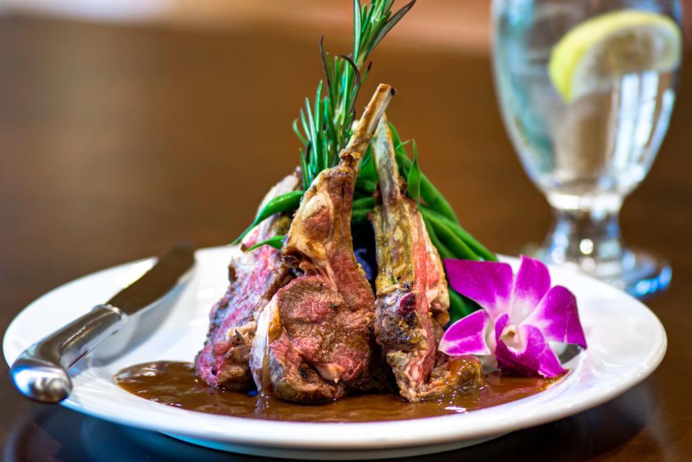 Fancy meal at The Meridian at Boca Raton in Boca Raton, Florida