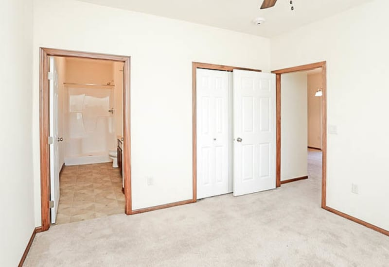 Spacious, bright bedroom at Johnston Heights in Johnston, Iowa