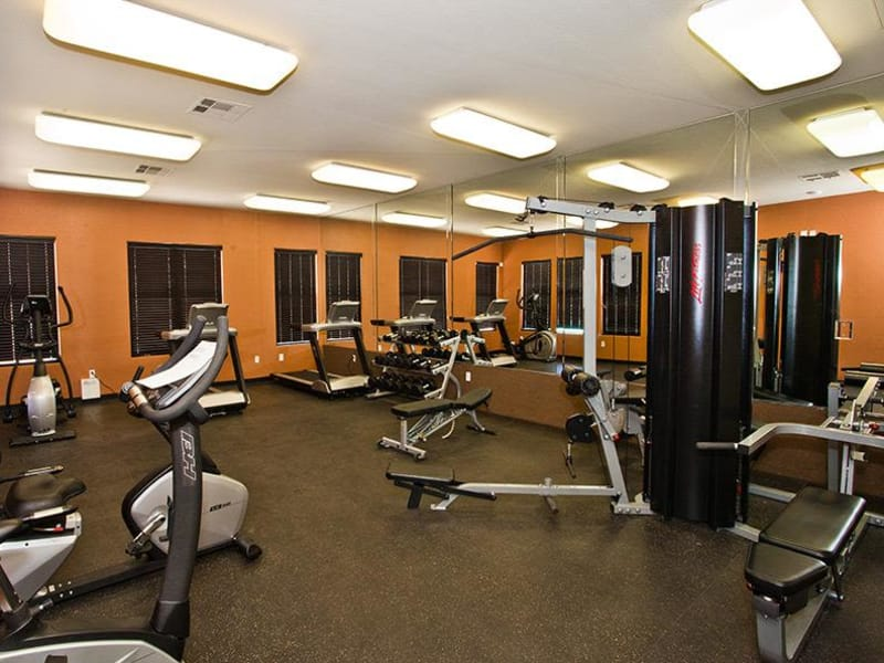 Fitness center on-site at Monterra Apartment Homes