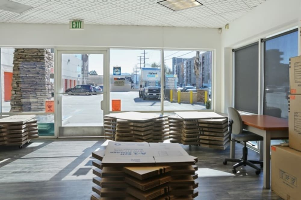The office at A-1 Self Storage in North Hollywood, California