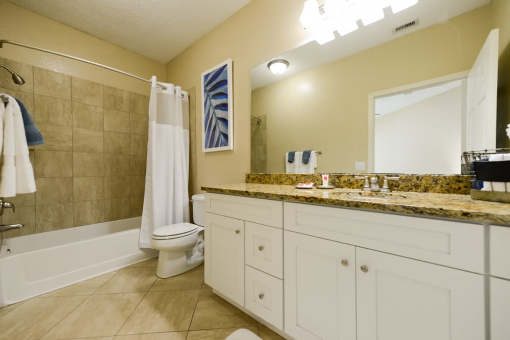 Spacious bathroom at Ocean Park of Ponte Vedra in Jacksonville Beach, FL