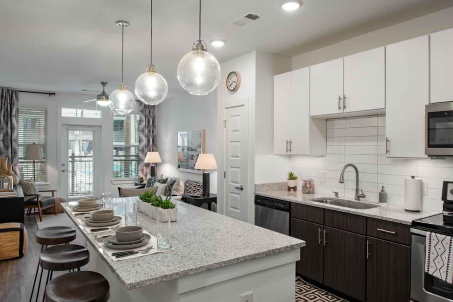 Modern kitchen at The Jaxon in Jacksonville, Florida