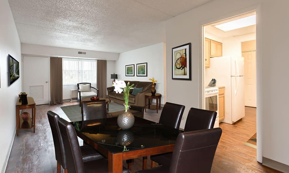 Dining room at Park Guilderland Apartments in Guilderland Center, New York