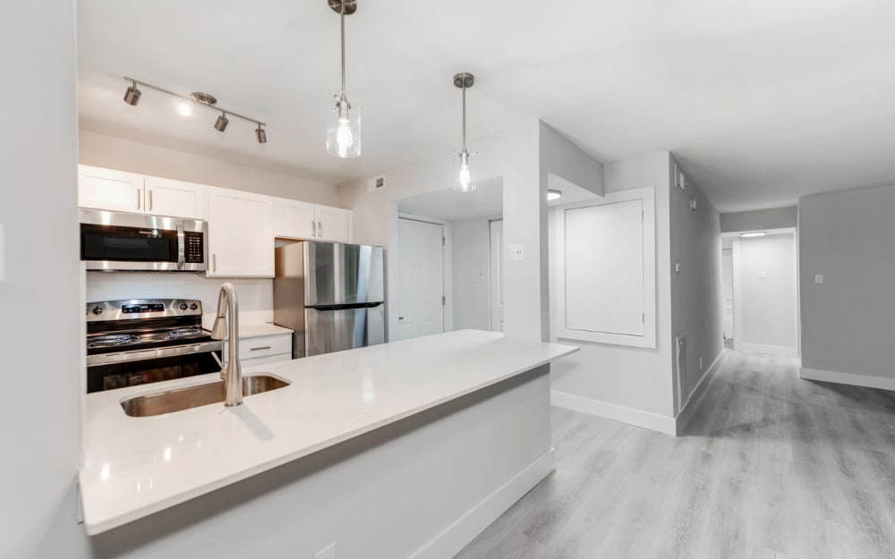 Link to floor plans at The Flats at Arrowood in Charlotte, North Carolina