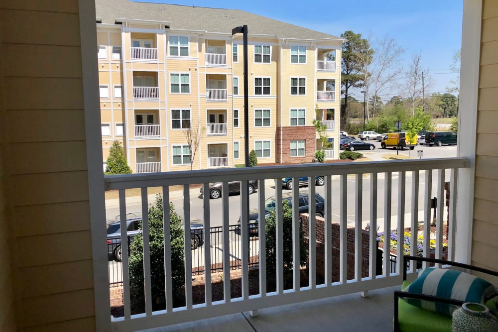 Balcony view at Level at 401 in Raleigh, North Carolina