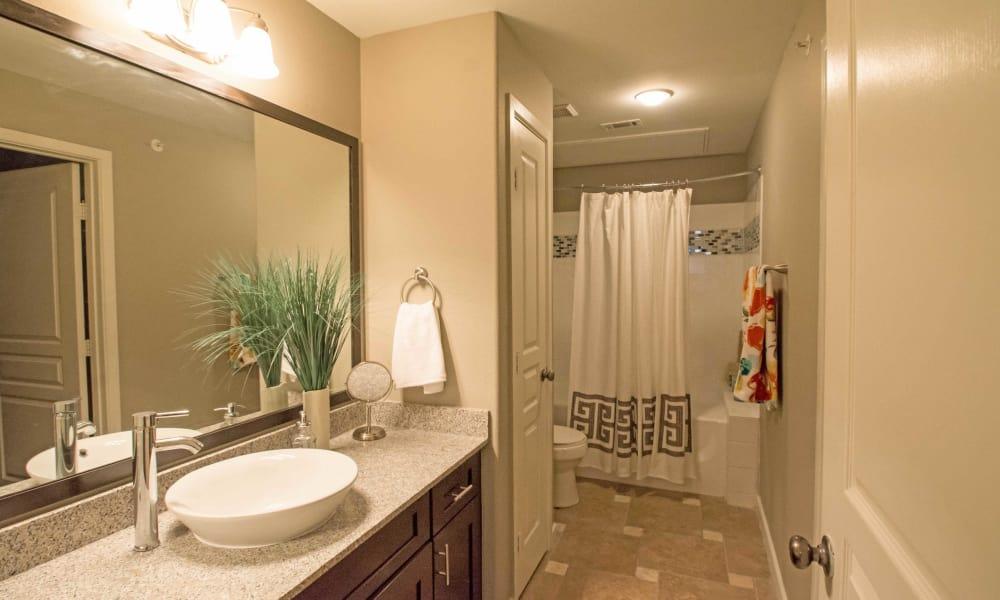 Gorgeous bathroom at apartments in San Antonio, Texas