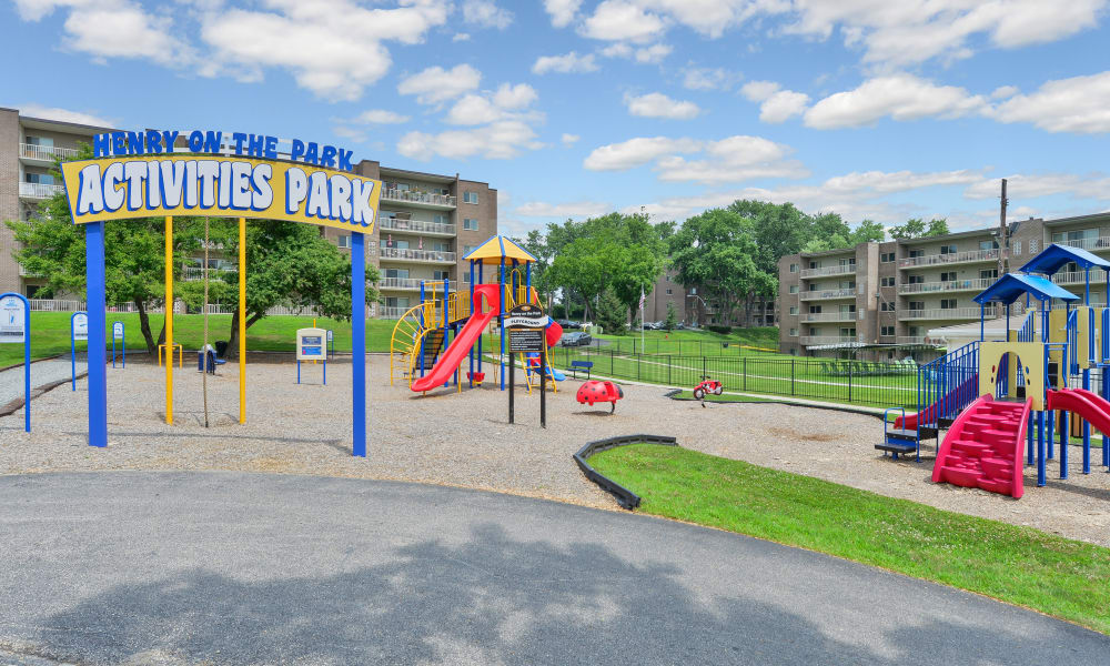 Henry on the Park Apartment Homes offers a Playground in Philadelphia, Pennsylvania