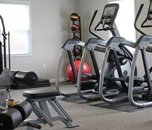 Fitness center for residents at The Encore at Laurel Ridge in Harrisburg, Pennsylvania