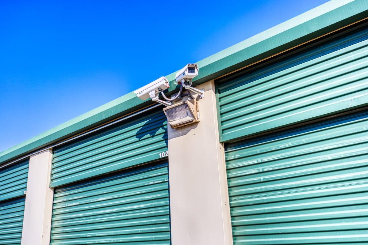 Video monitoring over RV parking in Greenville, Texas at Devon Self Storage