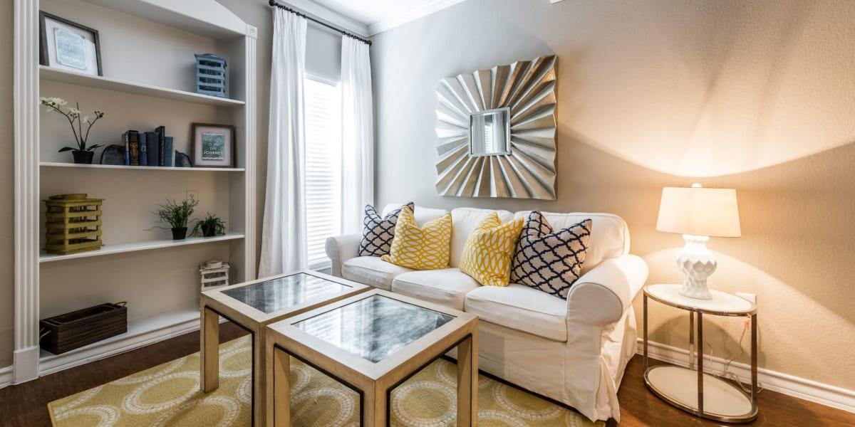 Living room at Marquis at Deerfield in San Antonio, Texas