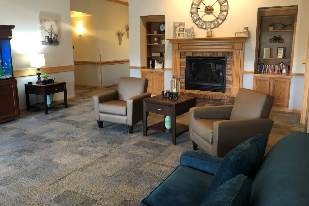 Sitting area at Apple Creek Place in Appleton, Wisconsin