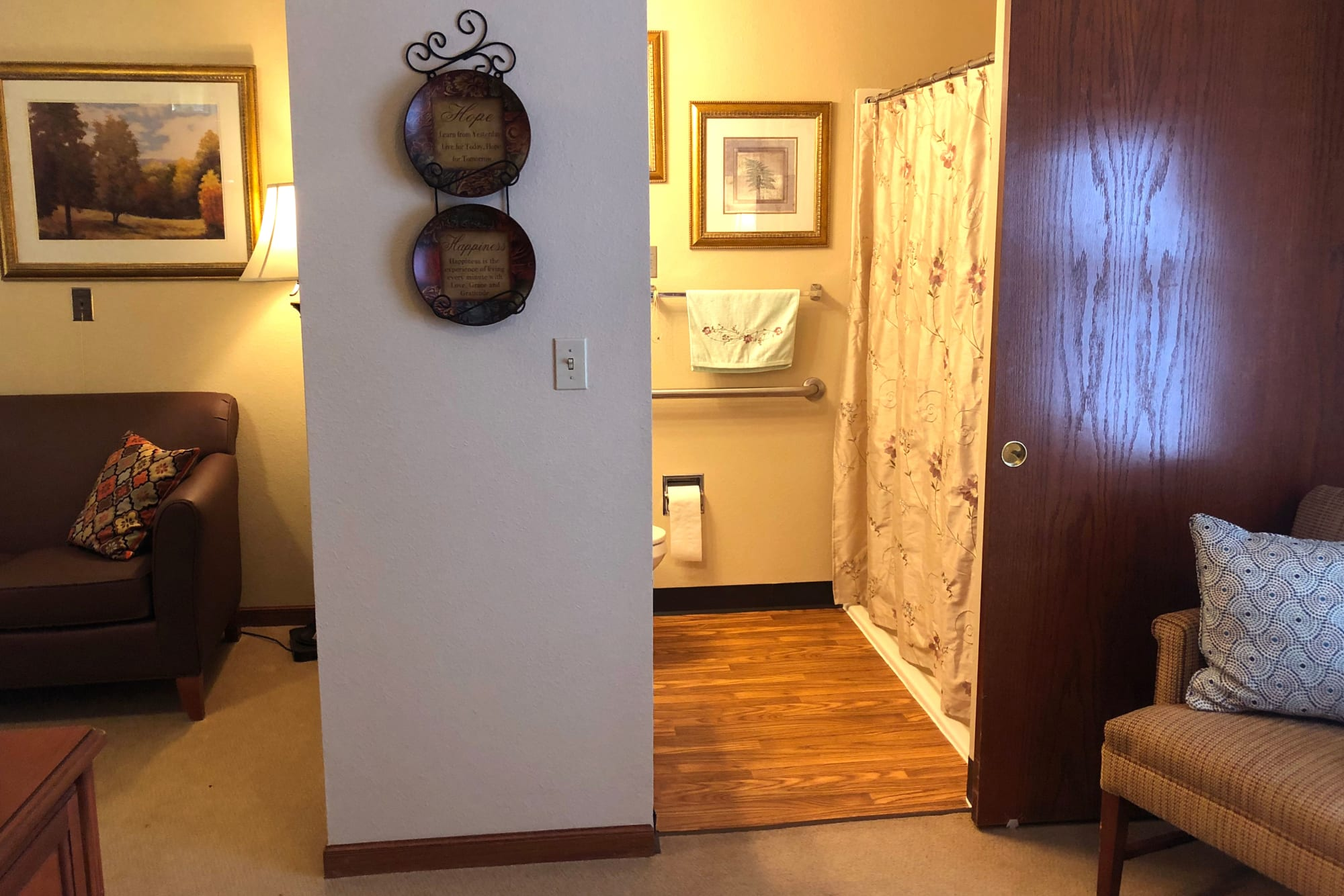 Private room at Ashbrook Village in Duncan, Oklahoma.