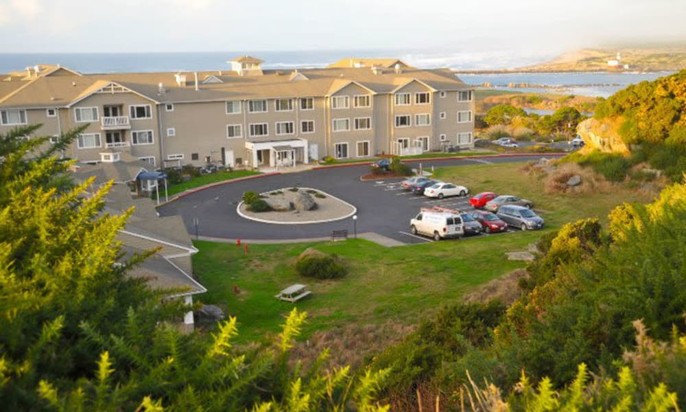 Distant view of community at Pacific View Senior Living Community in Bandon, Oregon