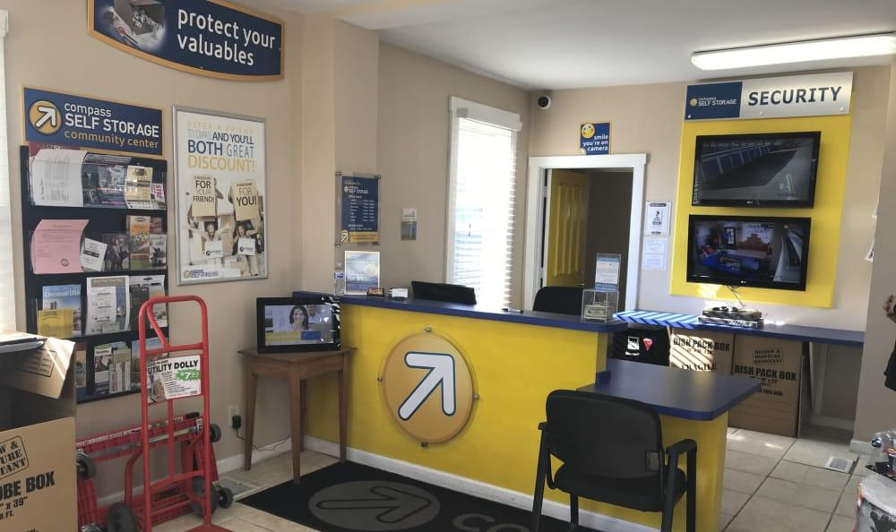 Leasing office at Compass Self Storage in Cincinnati, OH