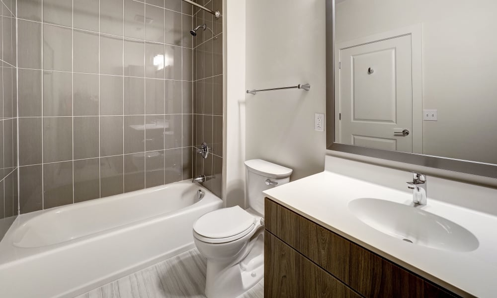 Bathroom available at Fenton Silver Spring in Silver Spring, Maryland