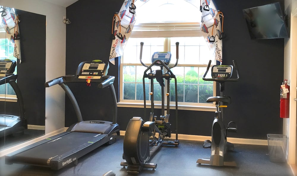 Stay healthy in our well equipped fitness center at England Run North Apartments