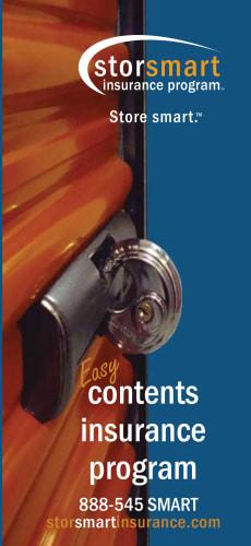 Brochure for Storsmart Insurance for STORAGExperts