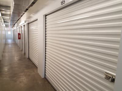 Line of storage units at Monster Self Storage in Ocean Isle Beach, North Carolina