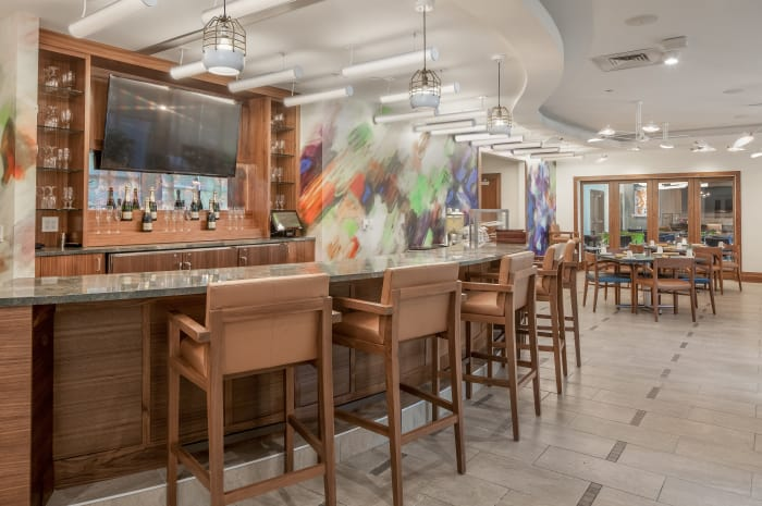 Bistro style bar at All Seasons Naples in Naples, Florida