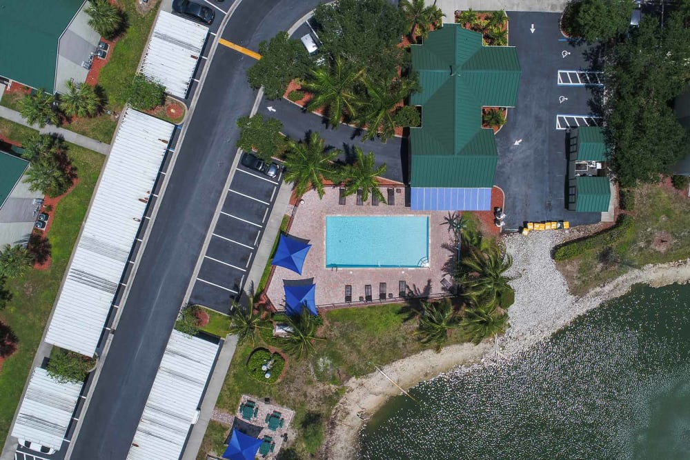 Aerial view of parking lot at The Coast of Naples Florida