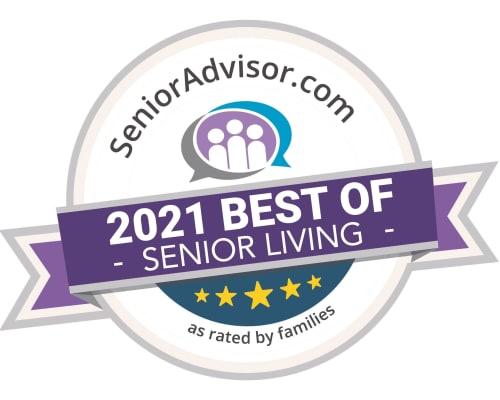 Senior Advisor Award 2021 for Heritage Hill Senior Community