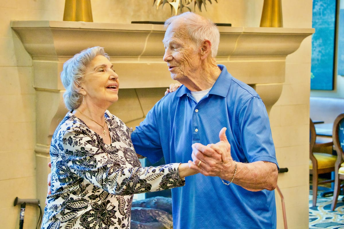 A couple dancing at Watercrest at Mansfield in Mansfield, Texas