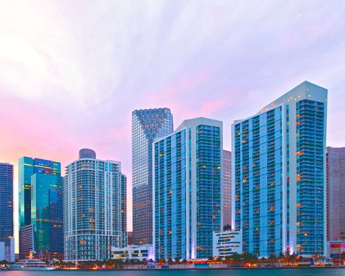 View of downtown on a beautiful afternoon near Aliro Apartments in North Miami, Florida