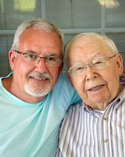 Resident and son at Garden Place Millstadt in Millstadt, Illinois.