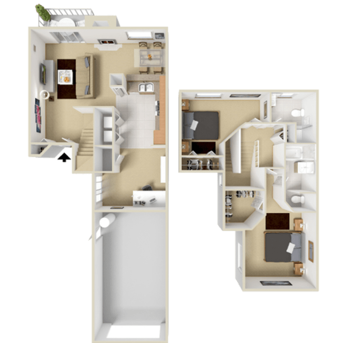 2 Bedroom Apartment 1276 sq.ft in Westminster, Colorado