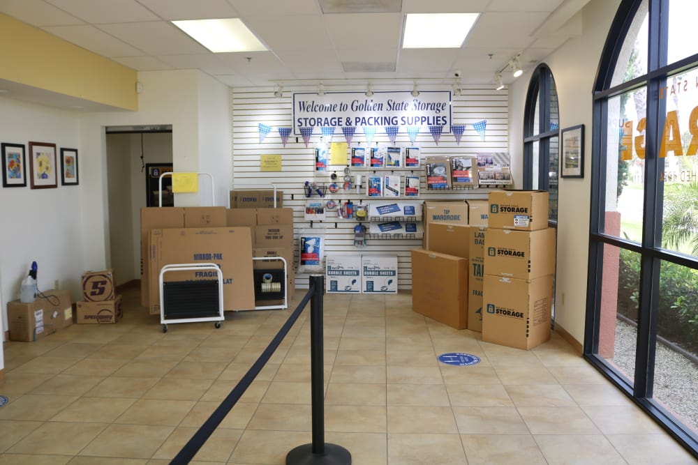 Moving supplies offered at our storage facility on Auto Center Drive in Oxnard