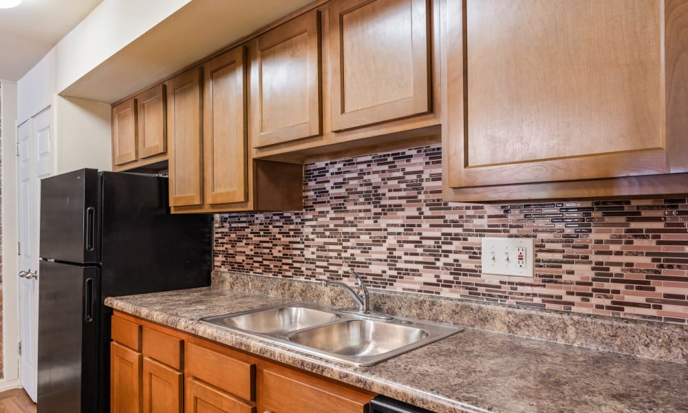 Spacious kitchen at Thirty43 by the Greene in Kettering, Ohio
