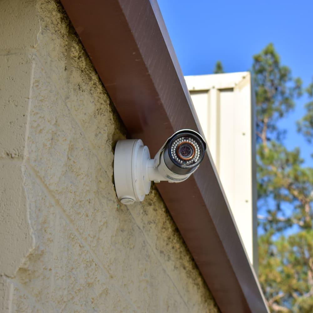 A video surveillance camera at STOR-N-LOCK Self Storage in Rancho Cucamonga, California