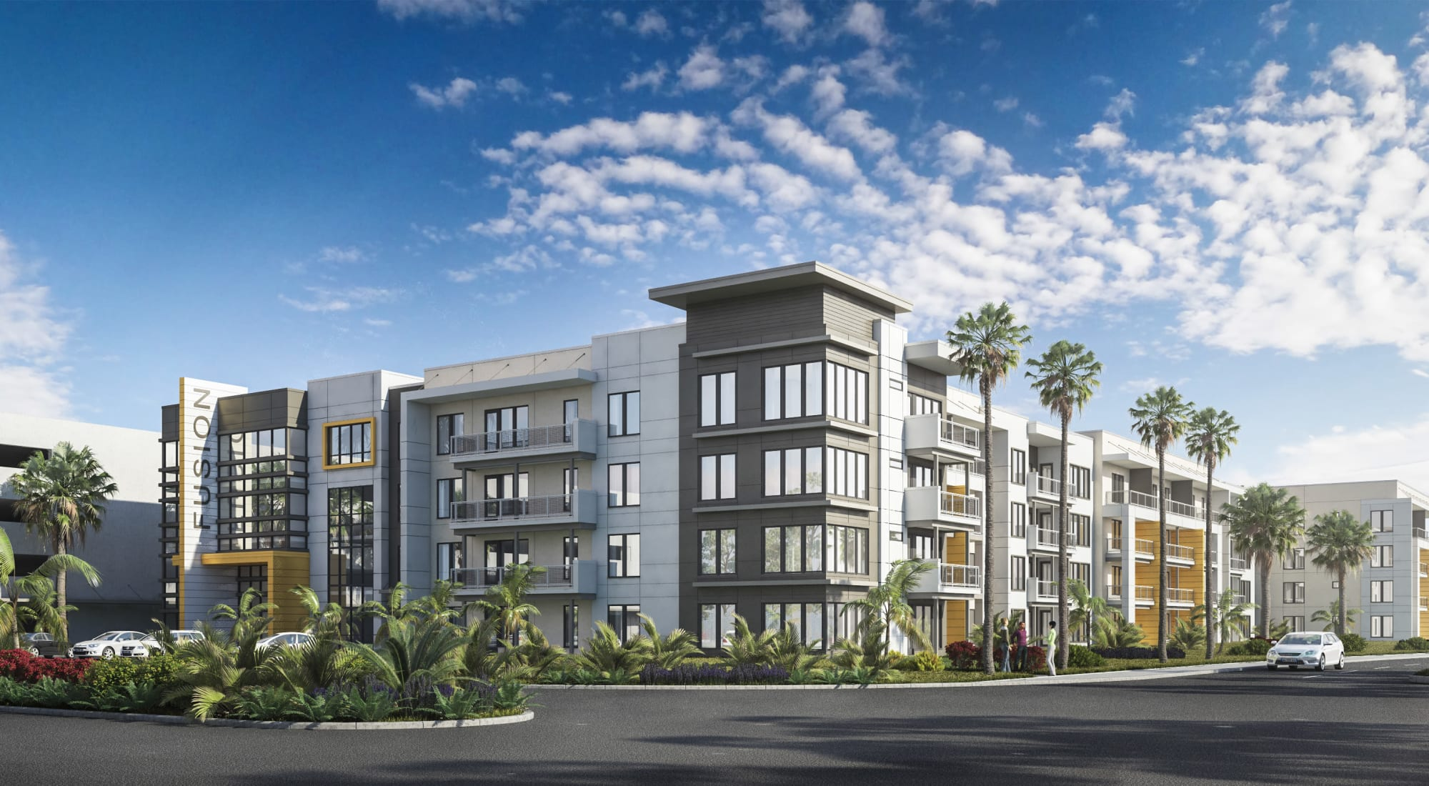 Rendering of Fusion apartments in Jacksonville, Florida