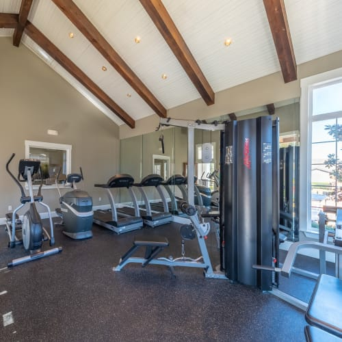 View virtual tour of our fitness center at Village Green of Bear Creek in Euless, Texas
