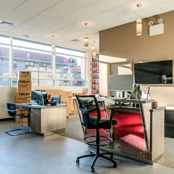 Interior of the office at StorQuest Self Storage in Brooklyn, New York