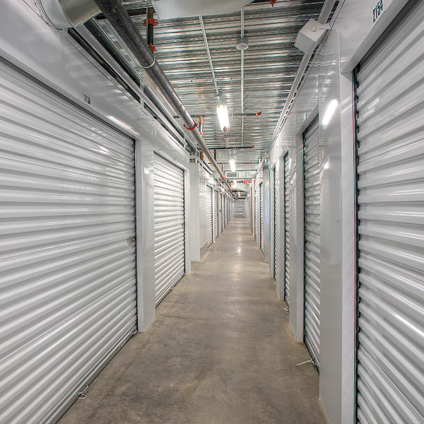 Climate controlled indoor storage units at StorQuest Self Storage in North Miami, Florida