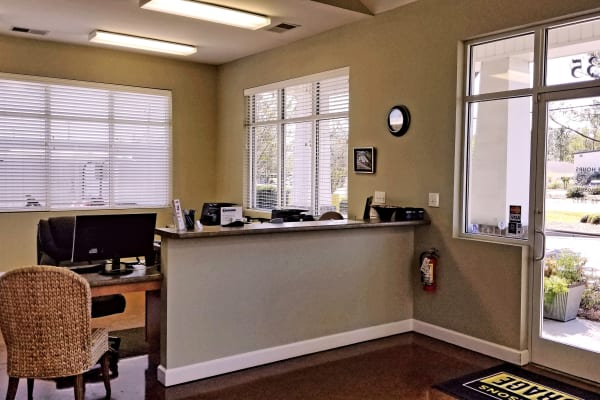 Leasing office at All Seasons Self Storage in Wilmington,North Carolina