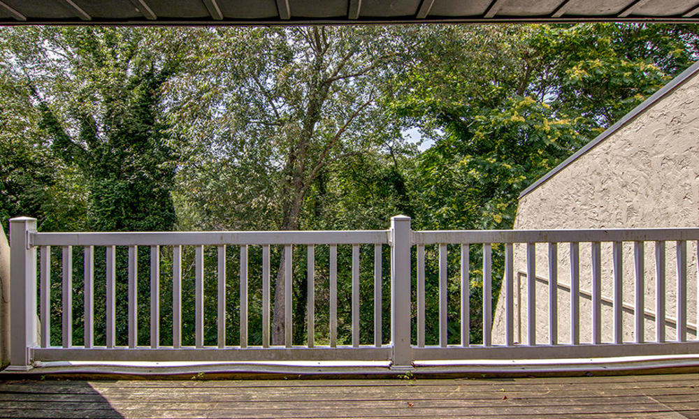 Balcony at The Cascades Townhomes and Apartments in Pittsburgh