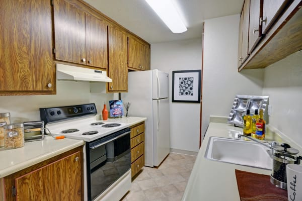 Kitchen at Avery Park Apartments in Fairfield, CA